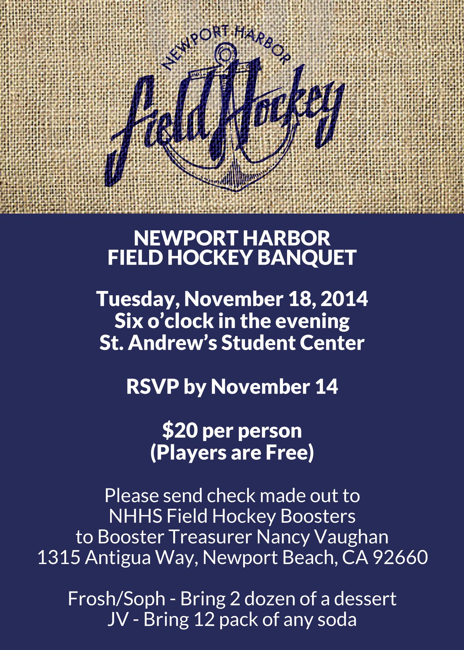 newport harbor field hockey